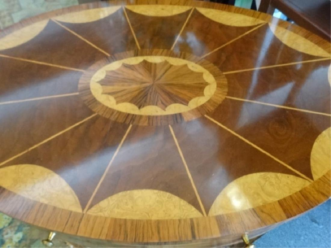 MAITLAND SMITH OVAL MARQUETRY TABLE WITH UNDERTIER, - 3