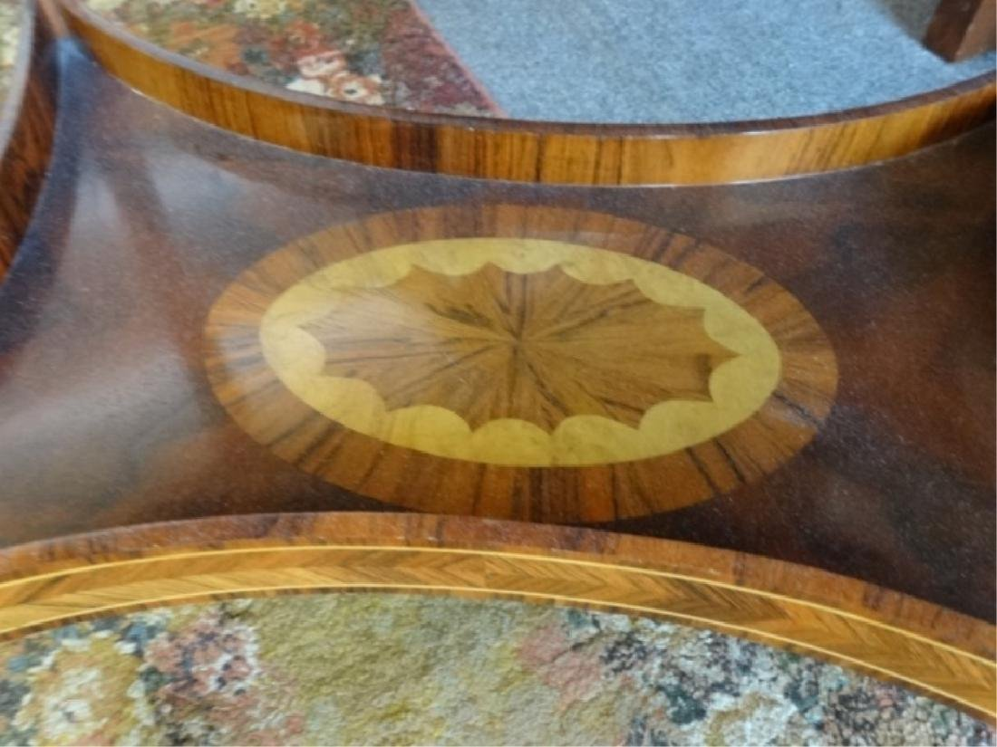 MAITLAND SMITH OVAL MARQUETRY TABLE WITH UNDERTIER, - 7