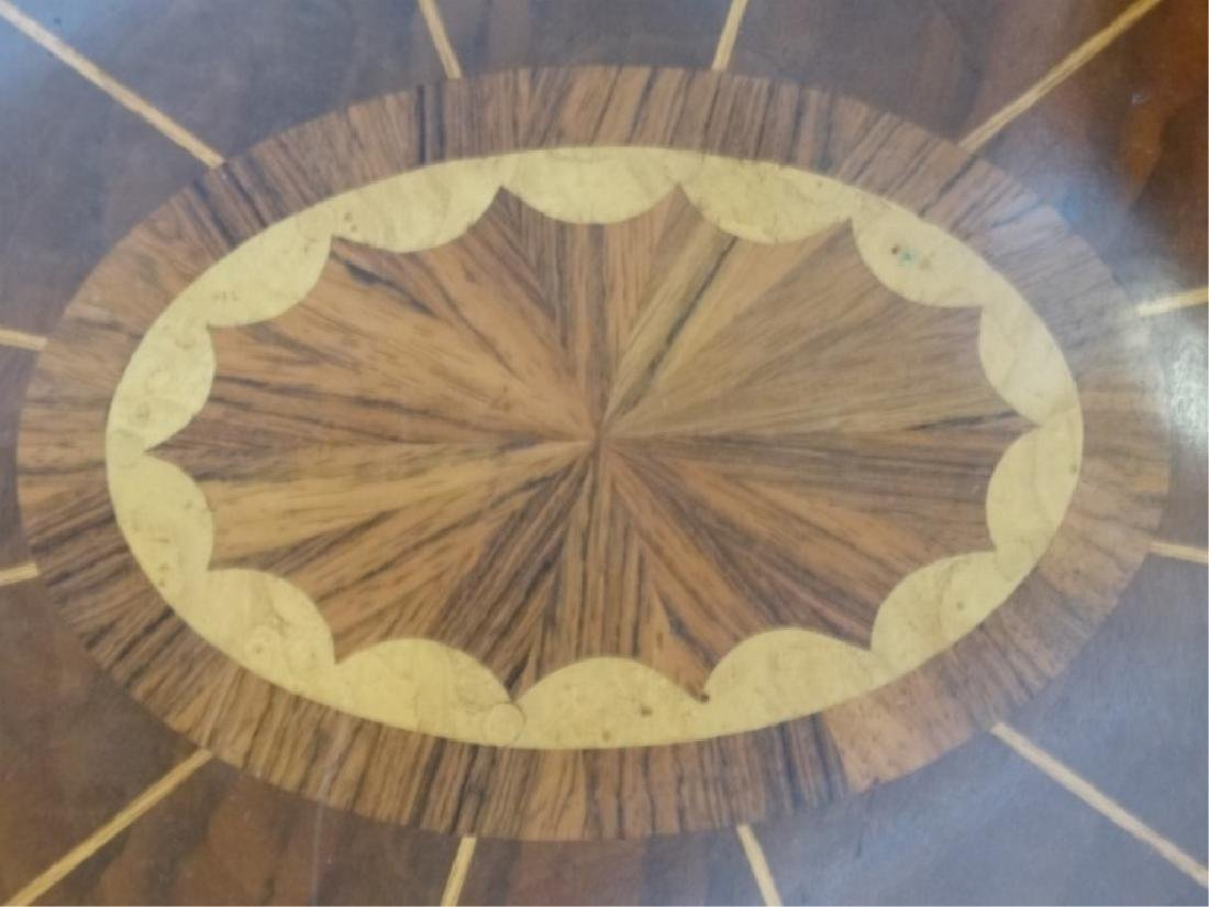 MAITLAND SMITH OVAL MARQUETRY TABLE WITH UNDERTIER, - 8
