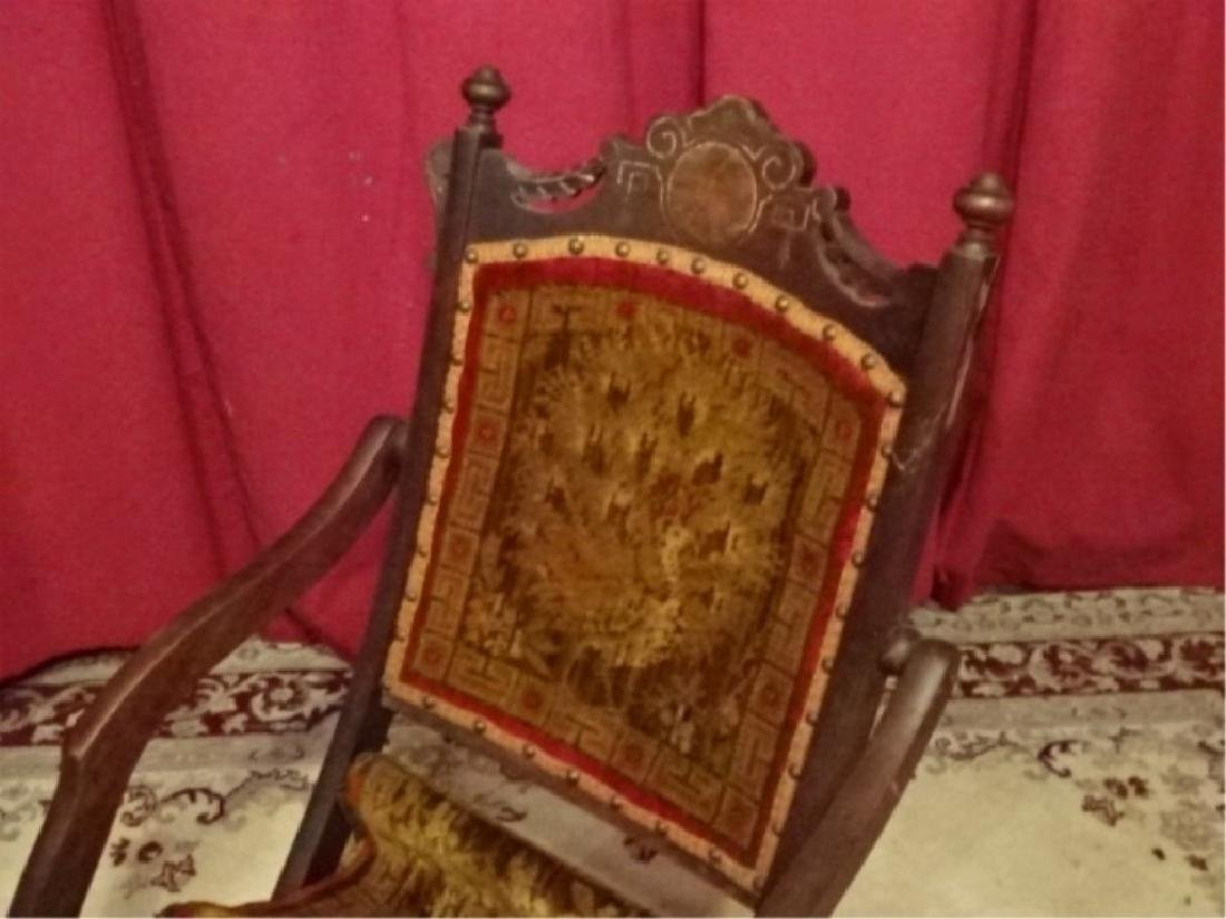 19TH C. VICTORIAN FOLDING CHAIR, FRAME IN VERY GOOD - 2