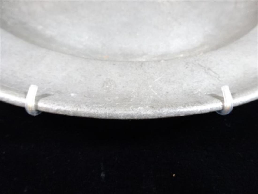 PEWTER PLATTER WITH WALL MOUNT RACK, MARKED, APPROX - 2