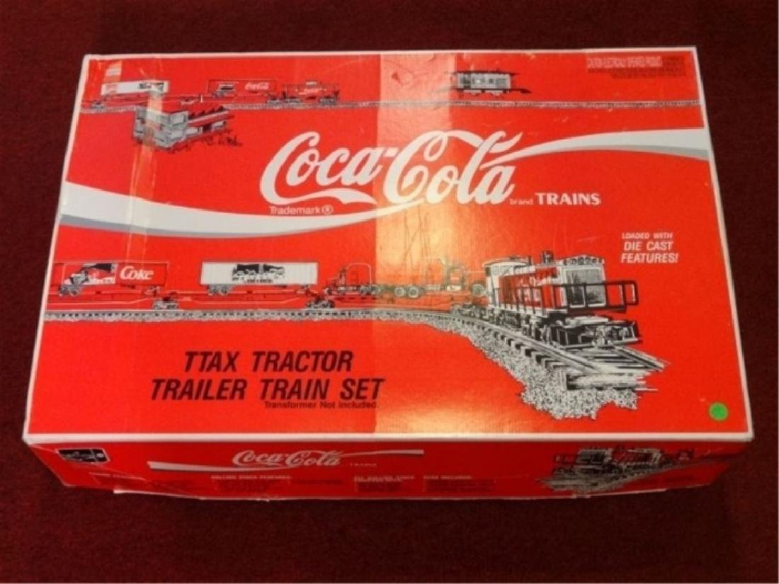 K-LINE COCA COLA TTAX TRACTOR TRAIN SET, MP-15 ENGINE,