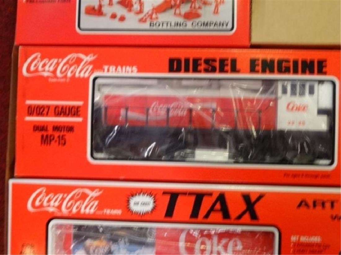 K-LINE COCA COLA TTAX TRACTOR TRAIN SET, MP-15 ENGINE, - 2