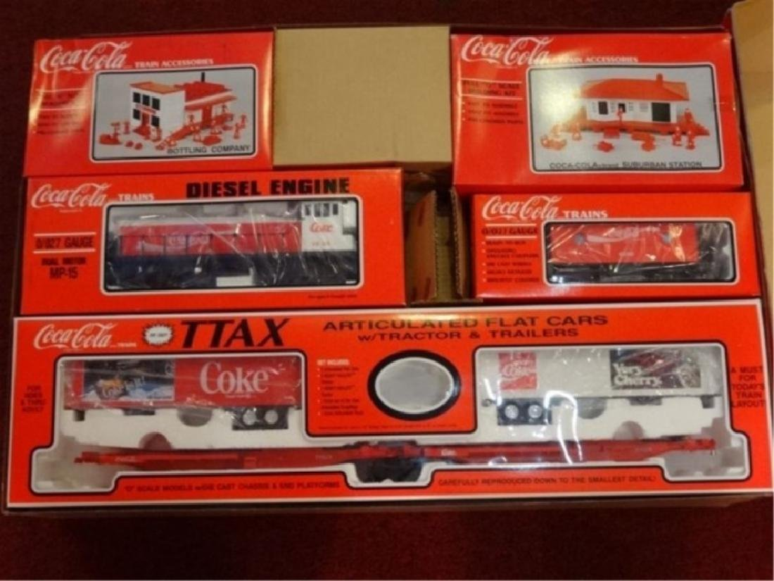 K-LINE COCA COLA TTAX TRACTOR TRAIN SET, MP-15 ENGINE, - 8