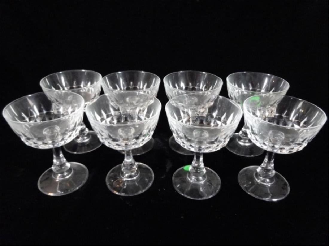 "8 PC CRYSTAL SHERBET STEMWARE GLASSES, APPROX 5"" X 4"""