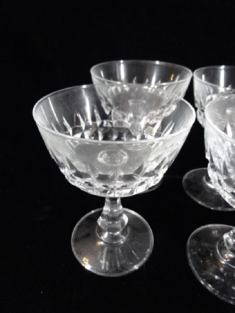"8 PC CRYSTAL SHERBET STEMWARE GLASSES, APPROX 5"" X 4"" - 2"