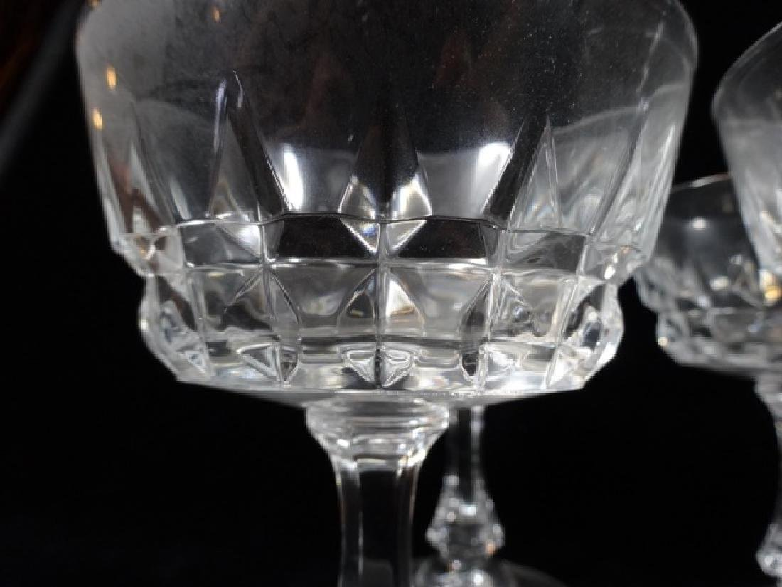 "8 PC CRYSTAL SHERBET STEMWARE GLASSES, APPROX 5"" X 4"" - 3"