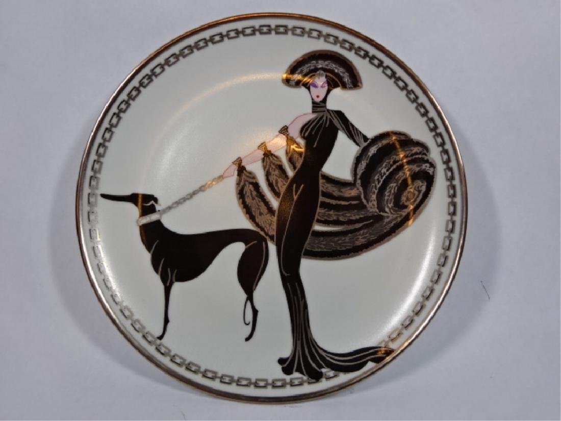 "HOUSE OF ERTE PORCELAIN 8"" PLATE, ""SYMPHONY IN BLACK"" - 2"
