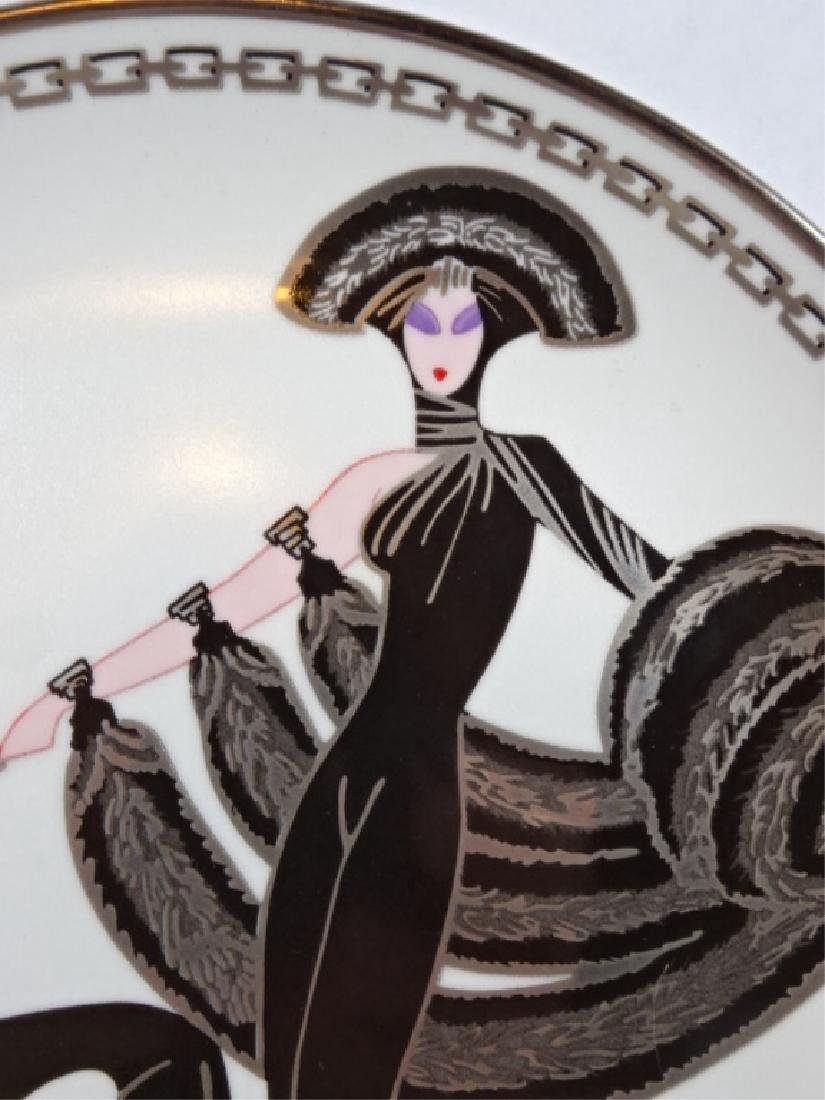 "HOUSE OF ERTE PORCELAIN 8"" PLATE, ""SYMPHONY IN BLACK"" - 3"