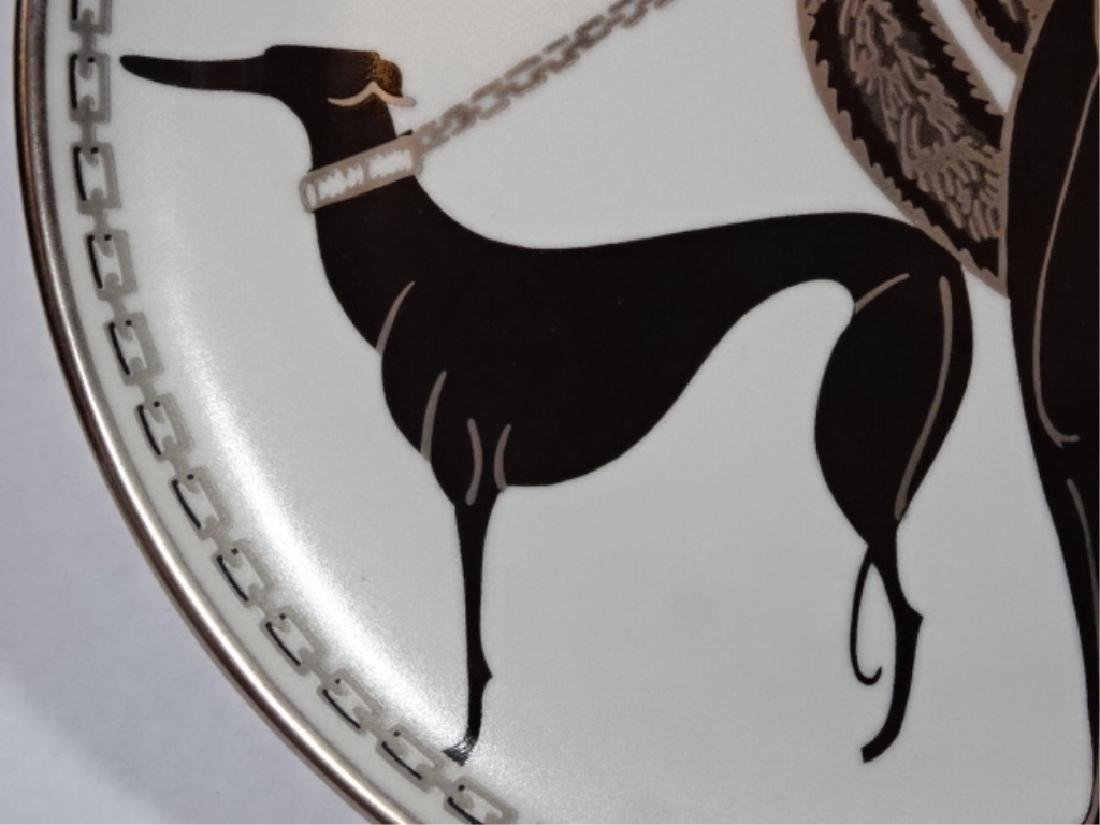 "HOUSE OF ERTE PORCELAIN 8"" PLATE, ""SYMPHONY IN BLACK"" - 4"