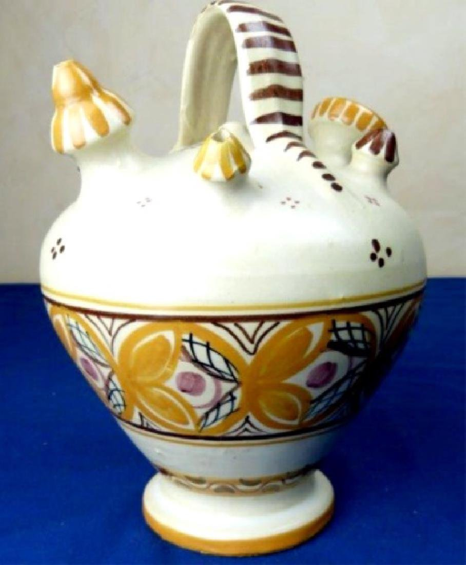 SPANISH HAND PAINTED CERAMIC WINE VASE, CIRCA 1930S,
