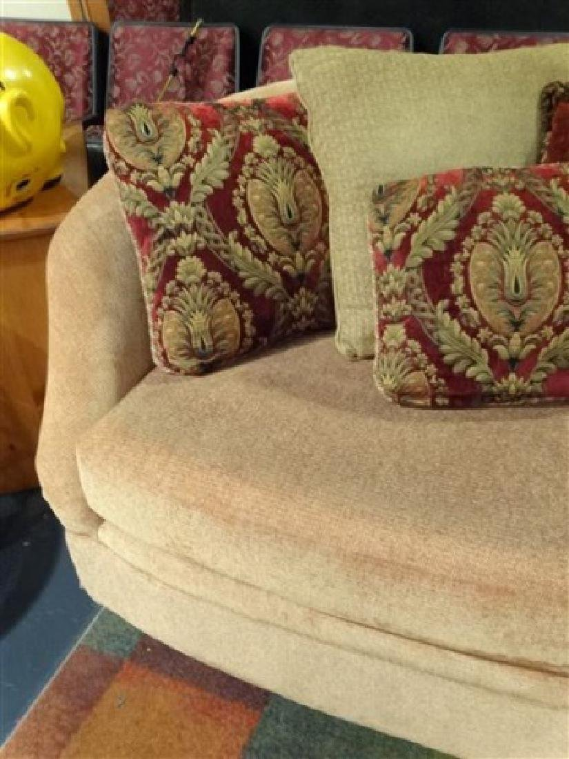GOLD CHENILLE SOFA WITH CURVED BACK, VERY GOOD GENTLY - 5