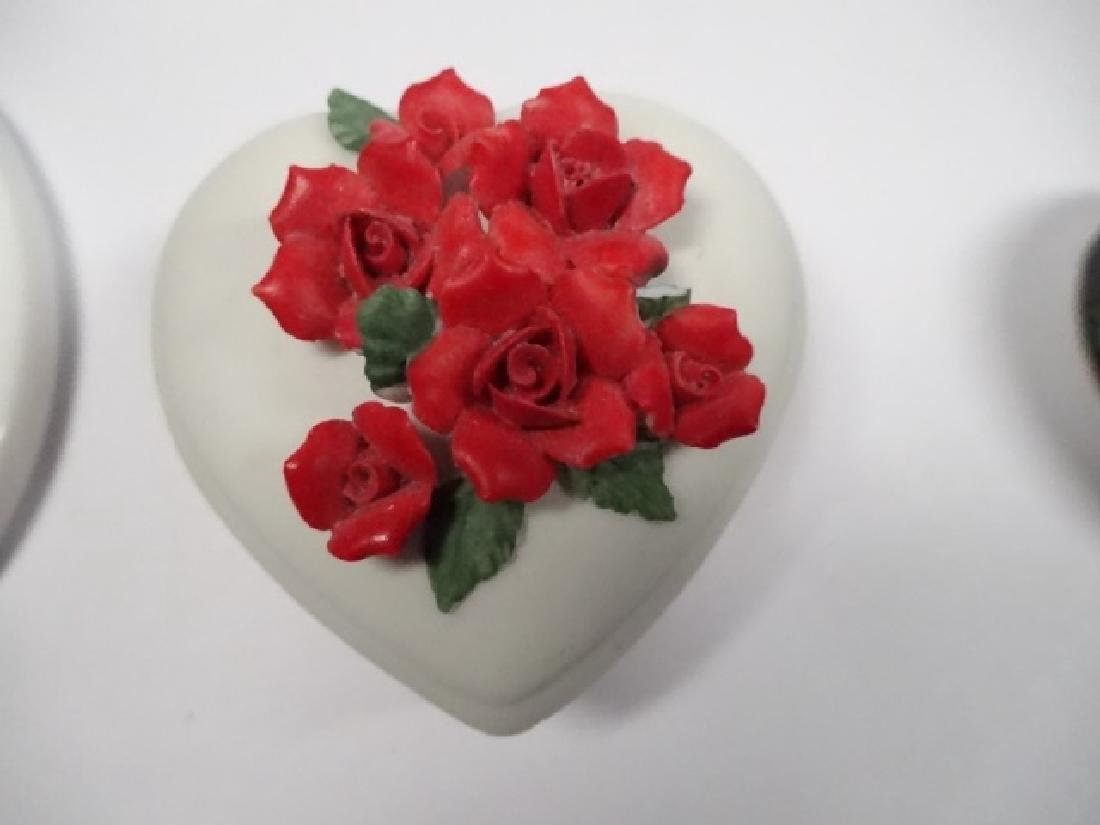 5 PC TRINKET BOXES, INCLUDES HEART SHAPED CHINESE - 13