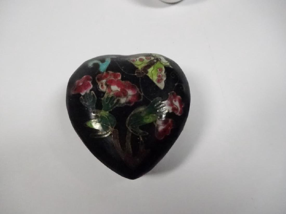 5 PC TRINKET BOXES, INCLUDES HEART SHAPED CHINESE - 3