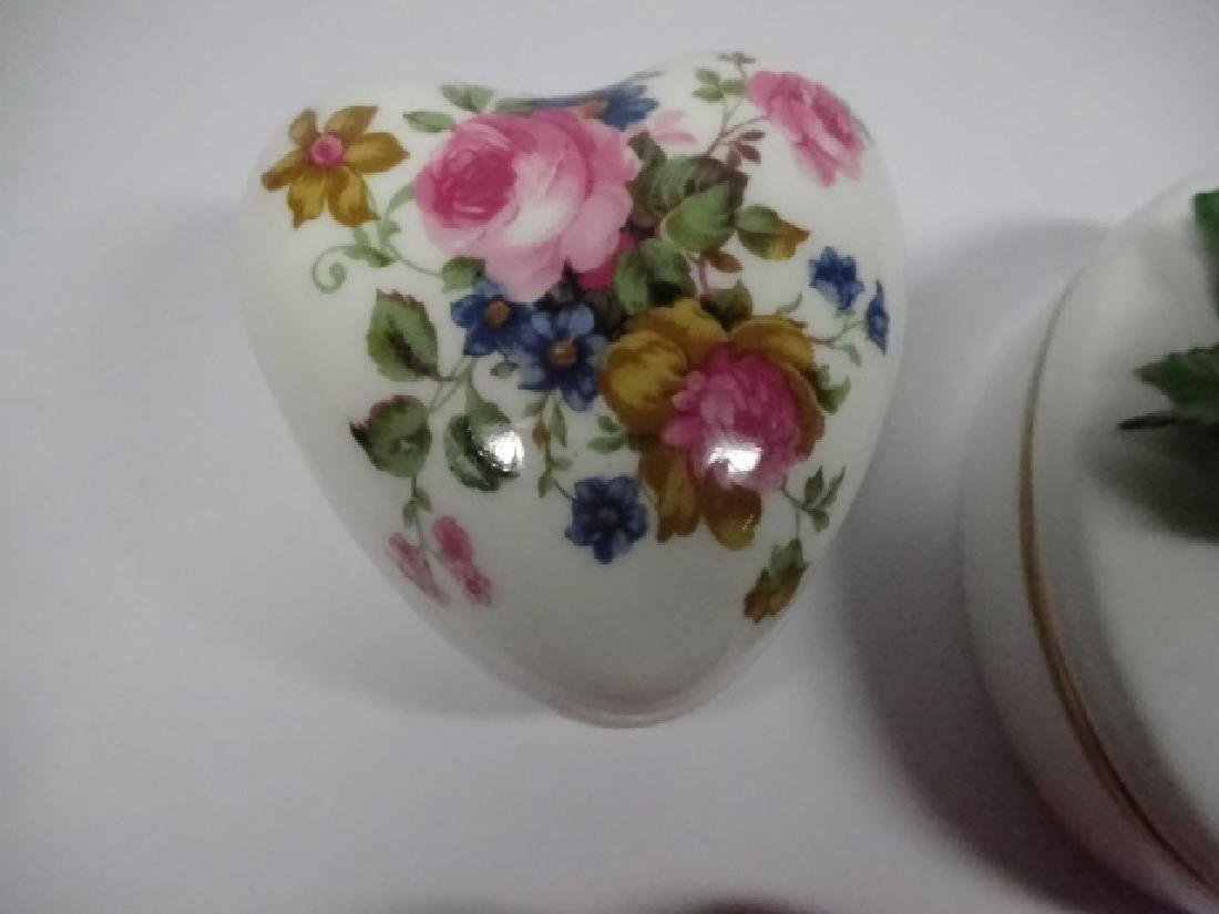 5 PC TRINKET BOXES, INCLUDES HEART SHAPED CHINESE - 6