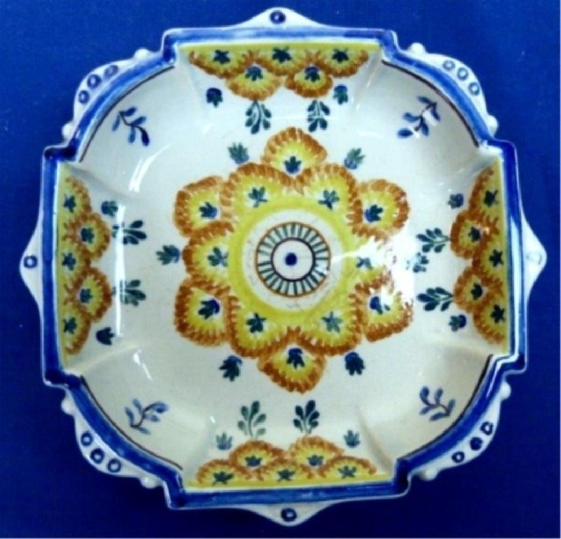 PORTUGUESE HAND PAINTED CERAMIC PLATE, MADE BY CERAMICA
