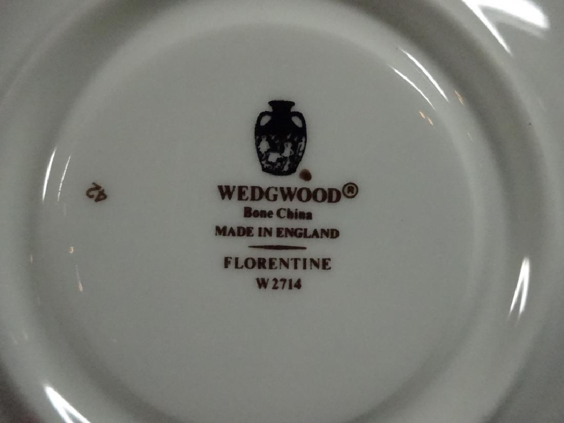 43 PC WEDGWOOD BONE CHINA, FLORENTINE, MADE IN ENGLAND, - 6