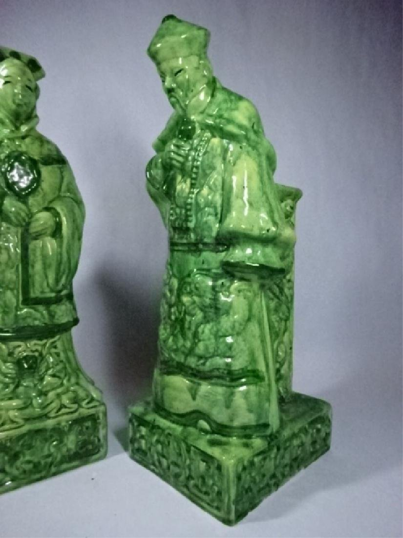 2 CHINESE PORCELAIN TABLE LAMP BASES, MAN AND WOMAN - 3