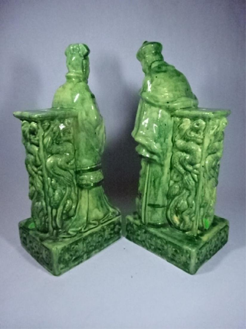 2 CHINESE PORCELAIN TABLE LAMP BASES, MAN AND WOMAN - 6