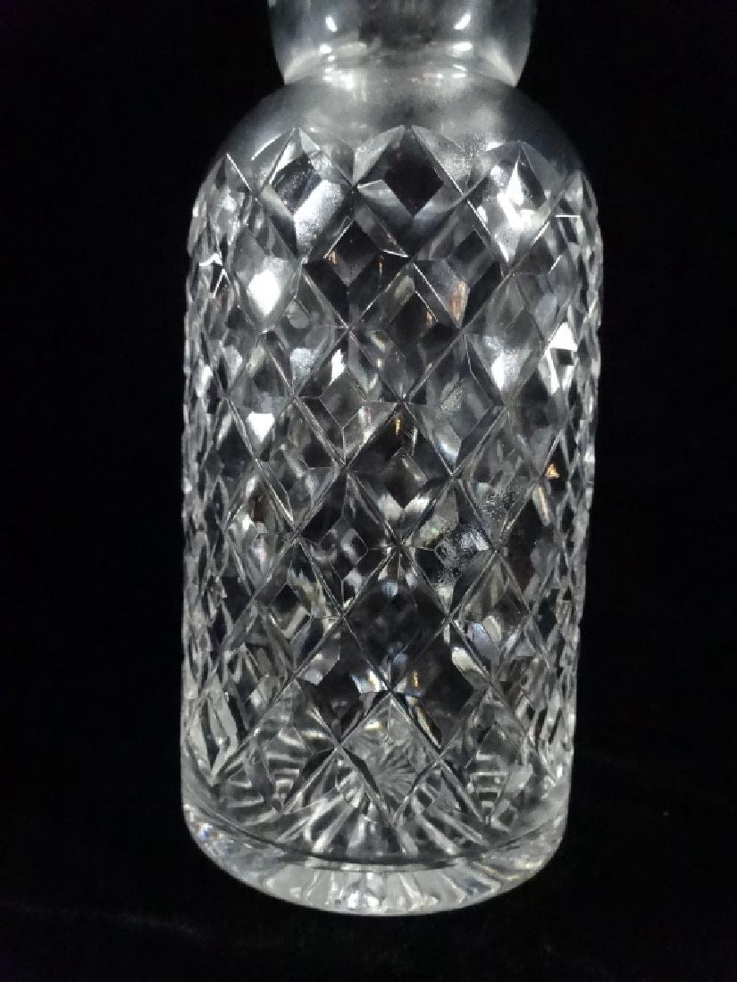 CRYSTAL DECANTER WITH STERLING SILVER WRAPPED STOPPER, - 4