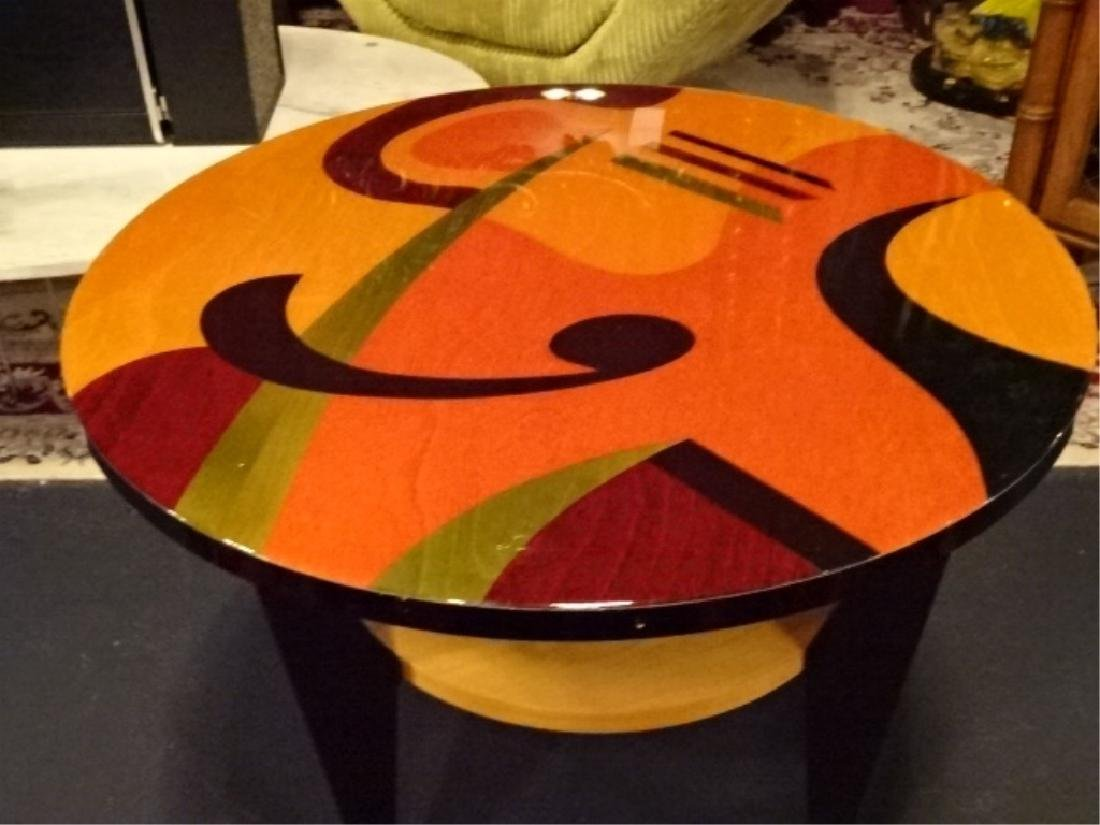 BENJAMIN LE SIGNED SIDE TABLE WITH UNDERTIER, STAINED - 3