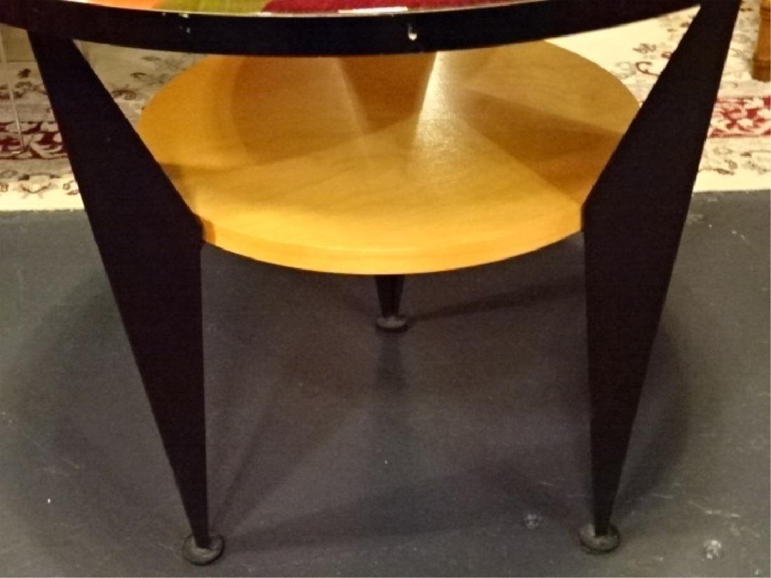 BENJAMIN LE SIGNED SIDE TABLE WITH UNDERTIER, STAINED - 4