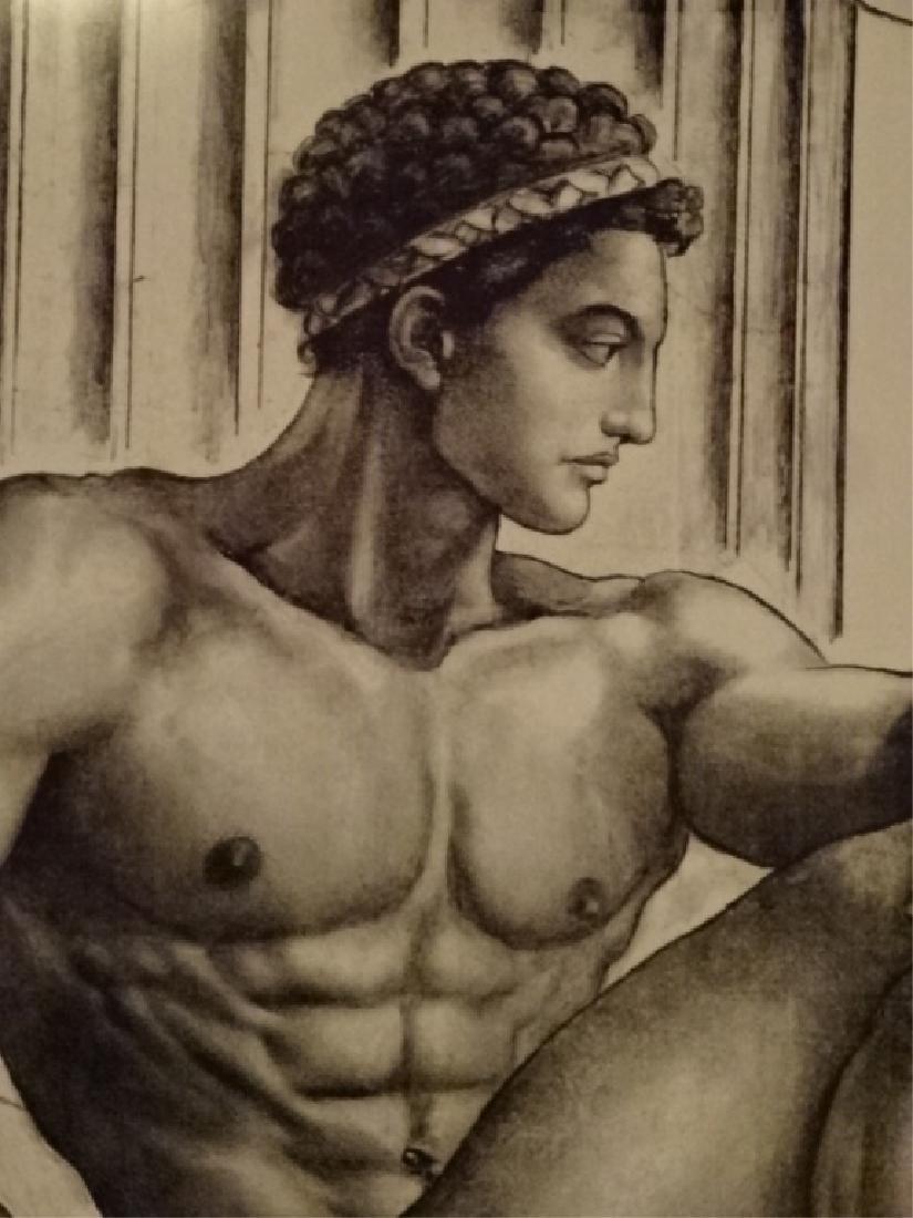 LARGE ALBERT CARUS PRINT, DEPICTING GREEK GOD APOLLO, - 3