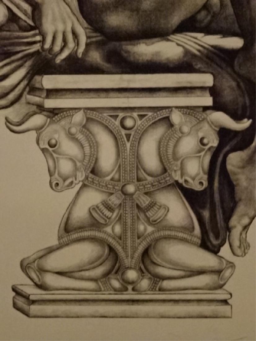 LARGE ALBERT CARUS PRINT, DEPICTING GREEK GOD APOLLO, - 4