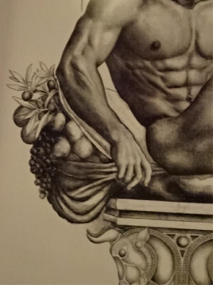 LARGE ALBERT CARUS PRINT, DEPICTING GREEK GOD APOLLO, - 5