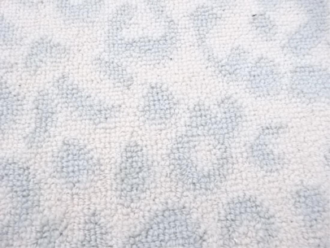 LARGE WHITE ANIMAL PRINT RUG, WHITE WITH PALE BLUE-GRAY - 4