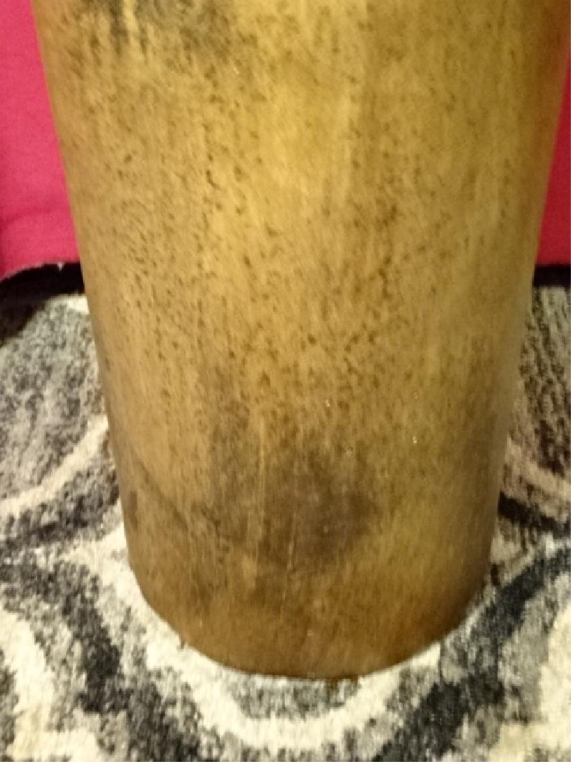 LARGE POTTERY FLOOR VASE, BROWN GLAZE, VERY GOOD - 3