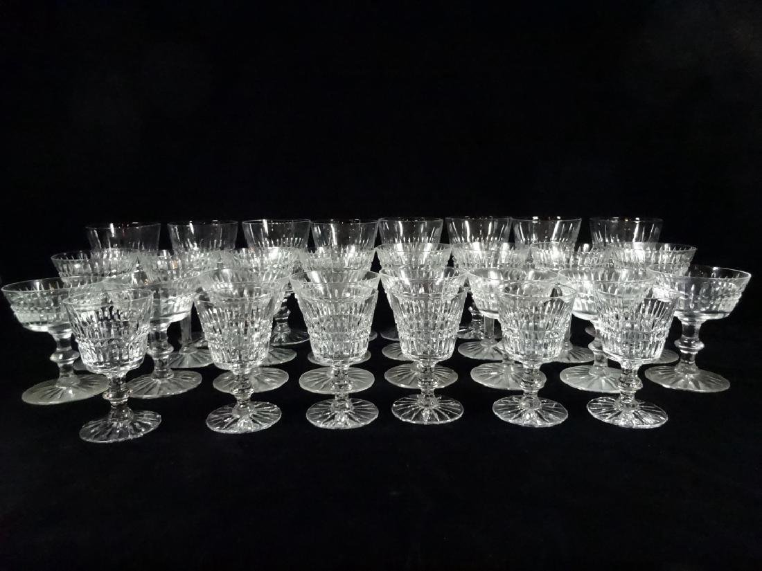 "30 PC CRYSTAL STEMWARE, INCLUDES 8 GLASSES APPROX 6""H,"