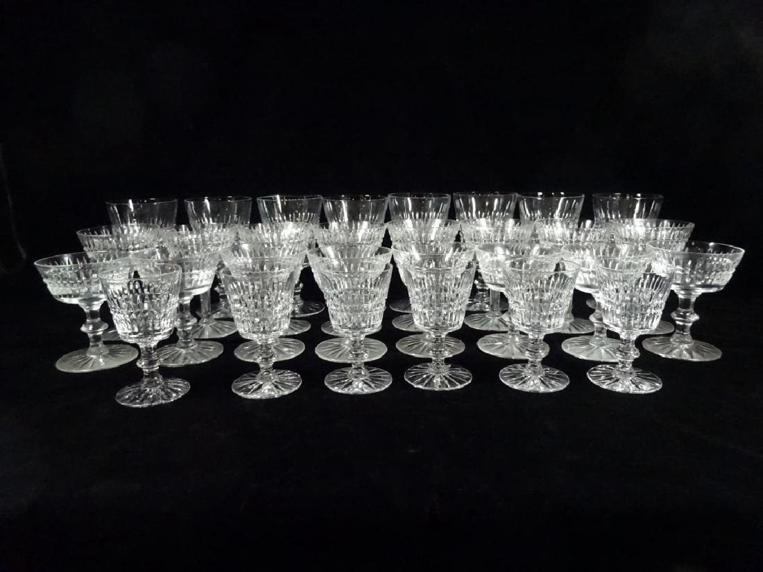 "30 PC CRYSTAL STEMWARE, INCLUDES 8 GLASSES APPROX 6""H, - 5"