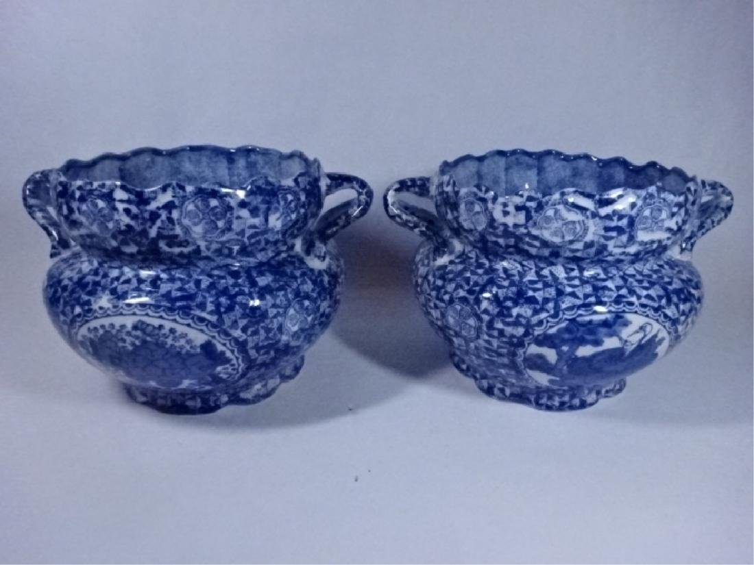 2 BLUE AND WHITE CHINESE PORCELAIN BOWLS WITH DUAL