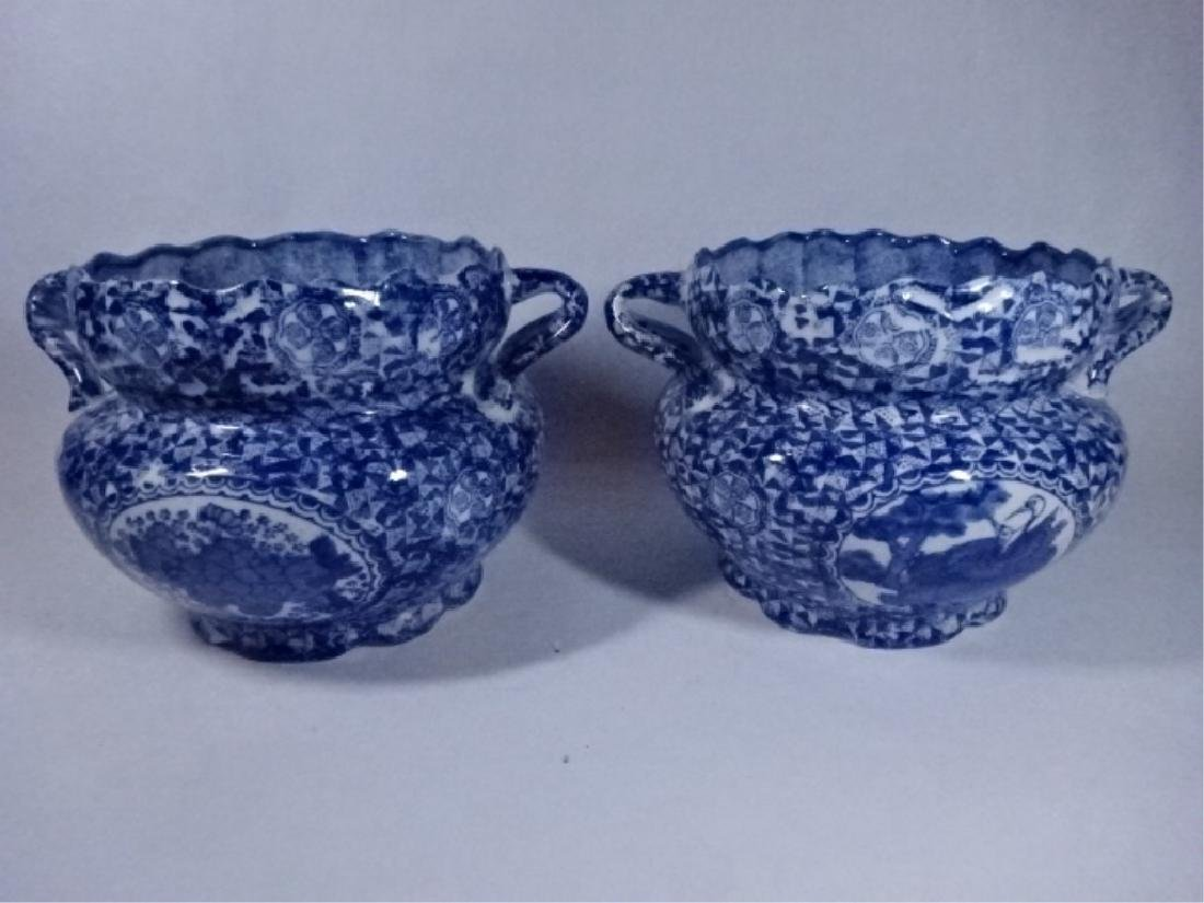 2 BLUE AND WHITE CHINESE PORCELAIN BOWLS WITH DUAL - 3