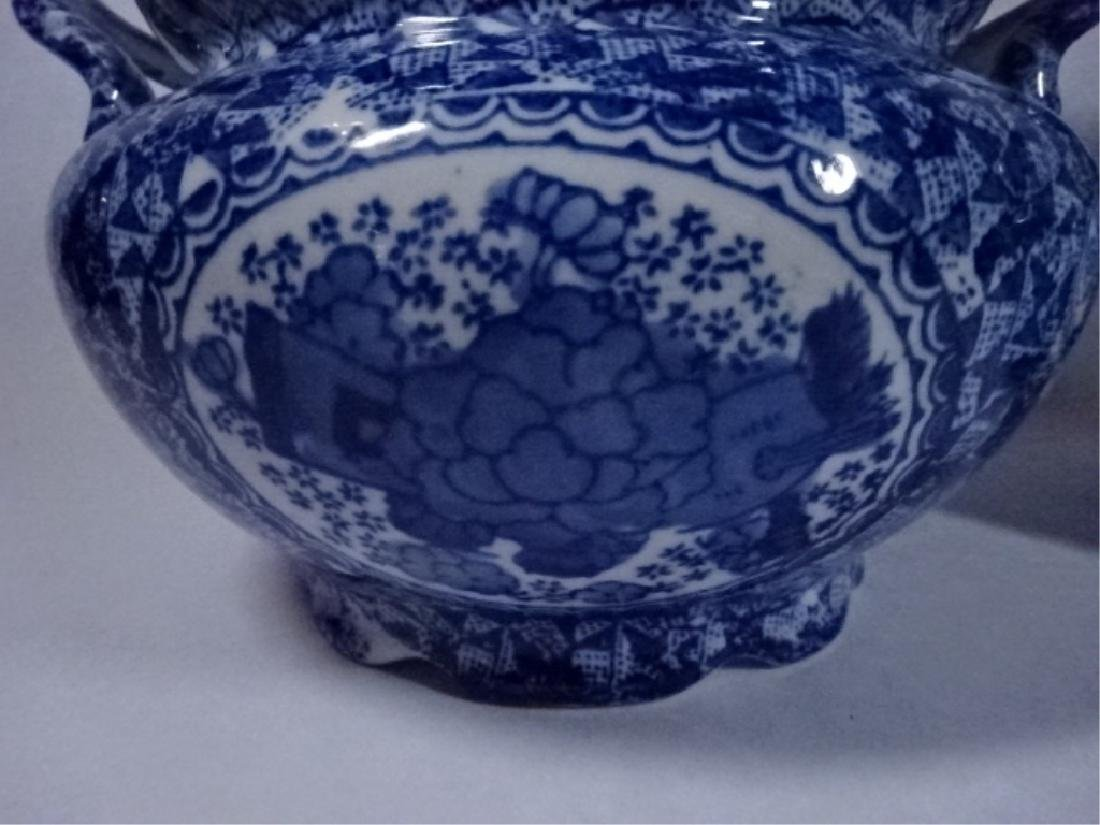 2 BLUE AND WHITE CHINESE PORCELAIN BOWLS WITH DUAL - 5