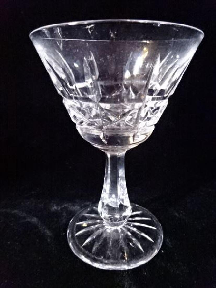"9 WATERFORD CRYSTAL KYLEMORE MARTINI GLASSES, 4.75""H, - 4"