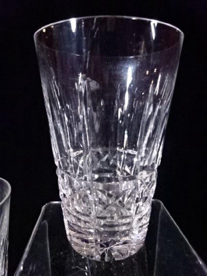 8 WATERFORD CRYSTAL KYLEMORE TUMBLERS, ETCHED WATERFORD - 2