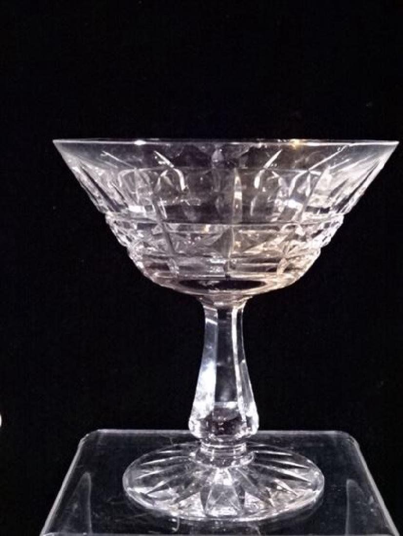 7 WATERFORD CRYSTAL KYLEMORE CHAMPAGNE / MARTINI - 5