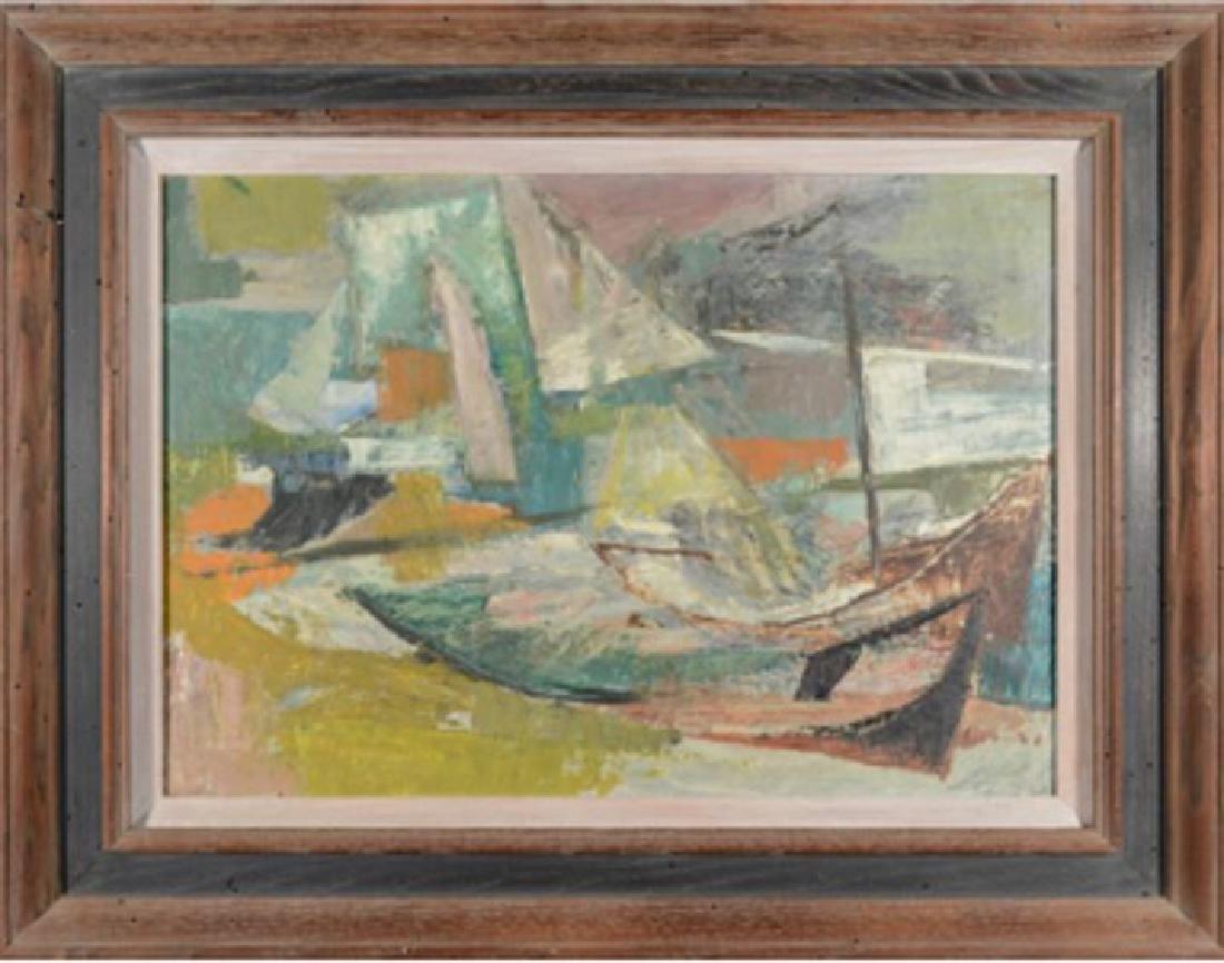 DENNY SONKE WINTERS (AMERICAN 1905-1985) OIL ON CANVAS