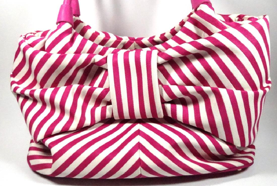 KATE SPADE PURSE / HANDBAG, PINK & WHITE STRIPED - 2