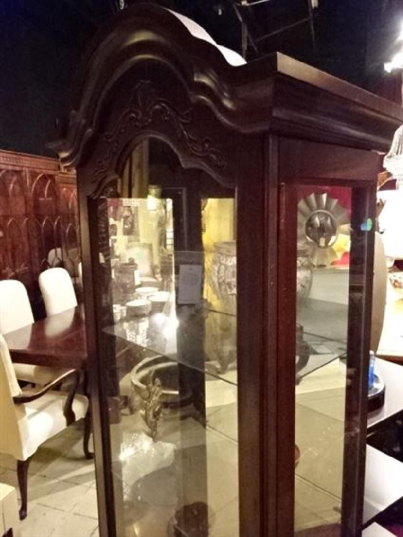 PHILLIP REINISCH LIGHTED DISPLAY CABINET, DOME TOP, - 2
