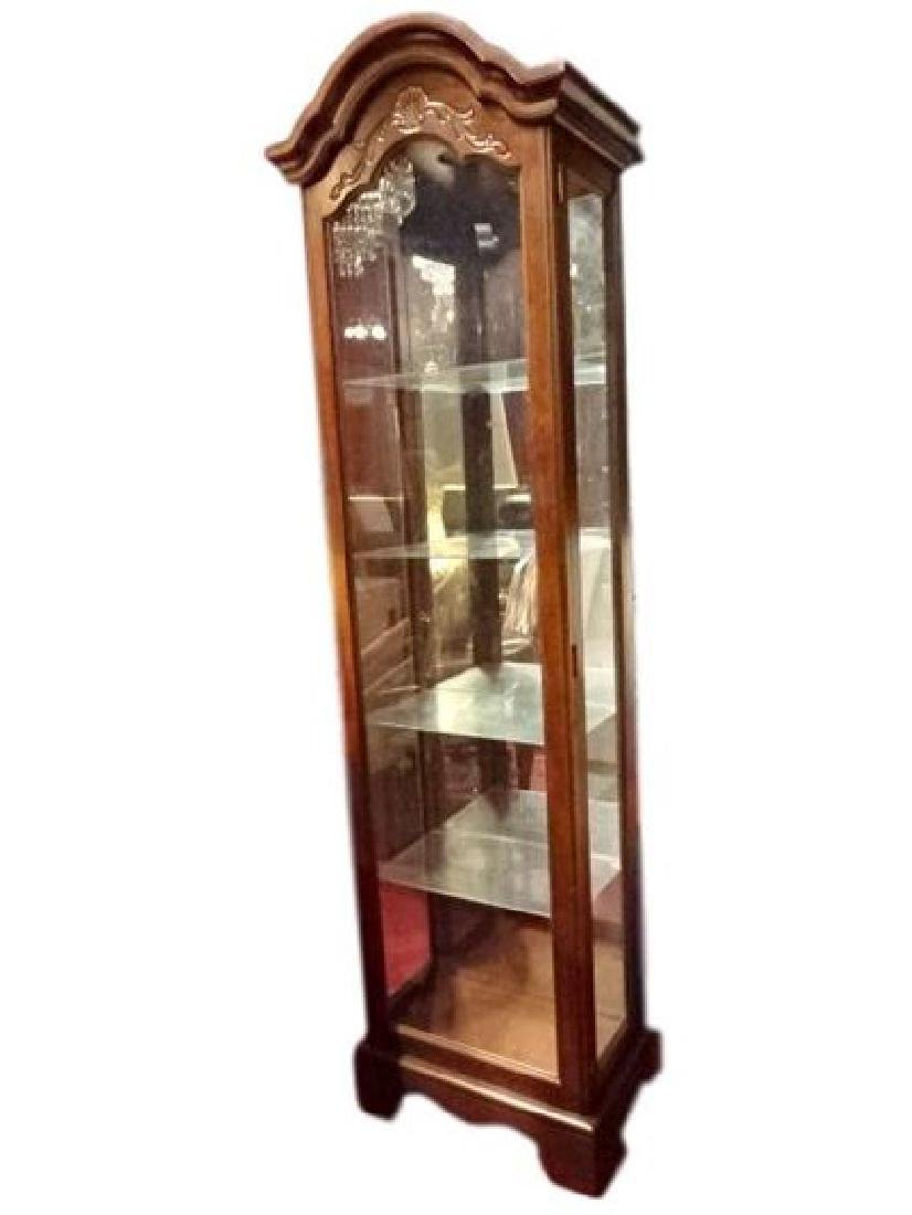 PHILLIP REINISCH LIGHTED DISPLAY CABINET, DOME TOP,