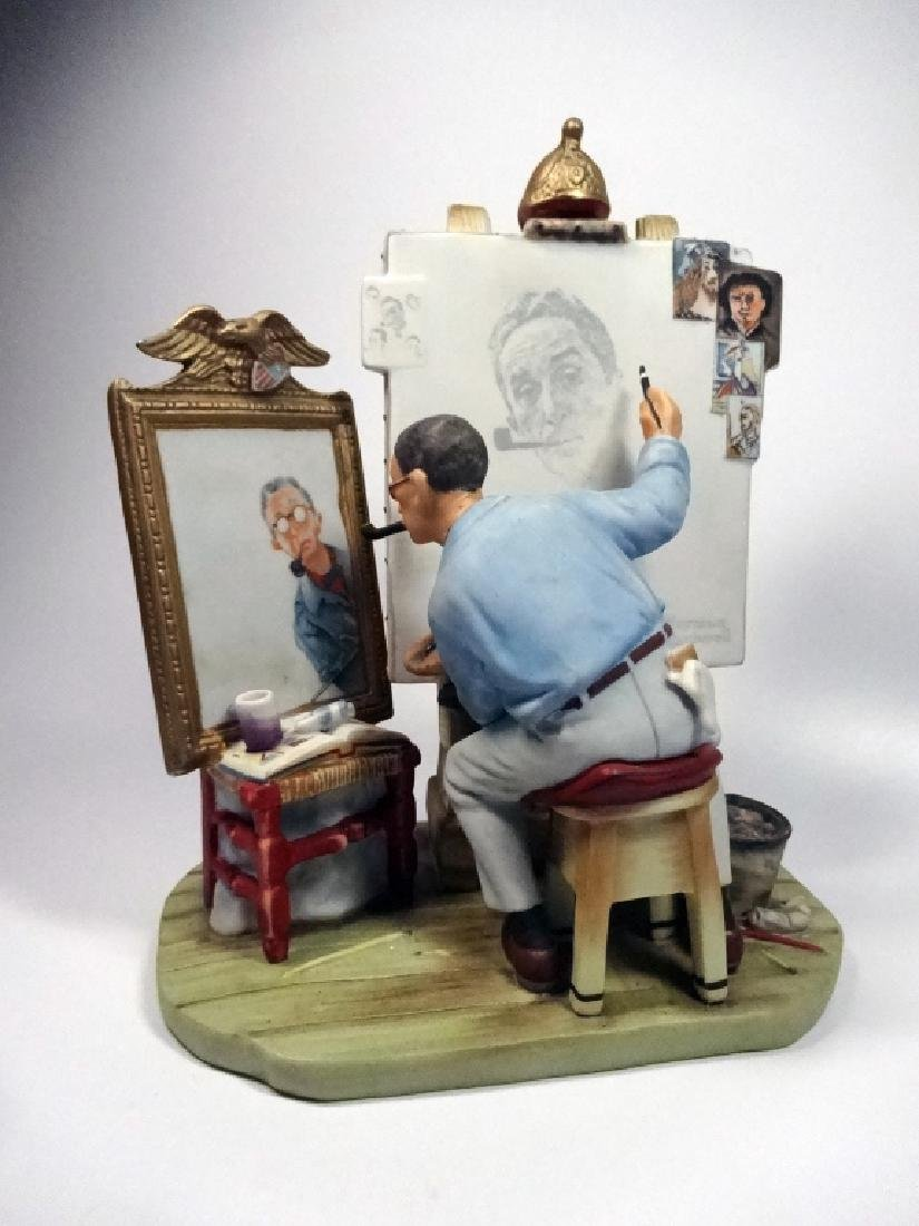 """NORMAN ROCKWELL PORCELAIN FIGURINE BY GORHAM, """"SELF"""