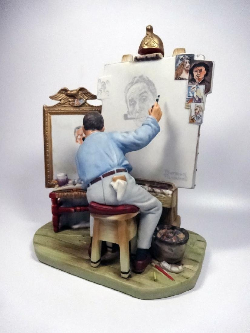 """NORMAN ROCKWELL PORCELAIN FIGURINE BY GORHAM, """"SELF - 2"""