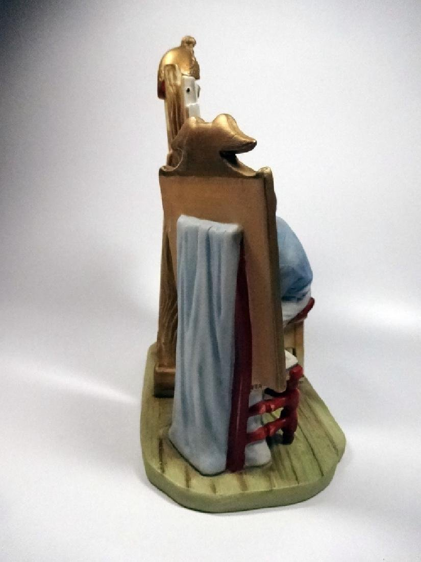 """NORMAN ROCKWELL PORCELAIN FIGURINE BY GORHAM, """"SELF - 4"""