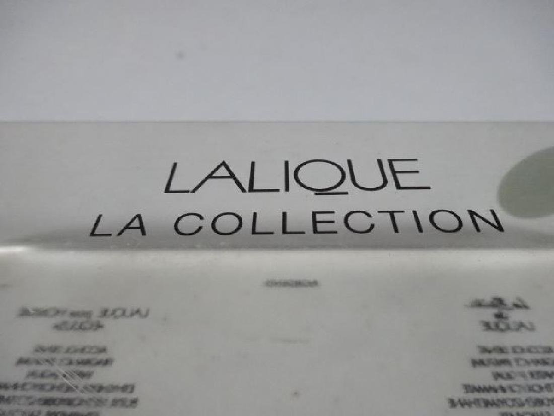 "LALIQUE FRANCE CRYSTAL MINIATURE PERFUME SET, ""LA - 5"