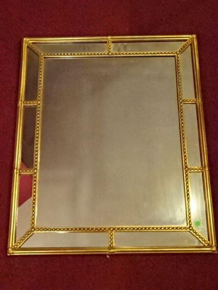 NEOCLASSICAL GOLD FINISH MIRROR, VERY GOOD CONDITION,