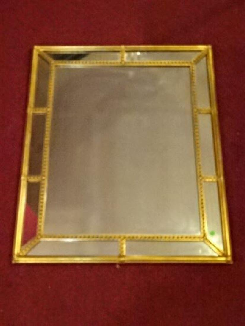 NEOCLASSICAL GOLD FINISH MIRROR, VERY GOOD CONDITION, - 4
