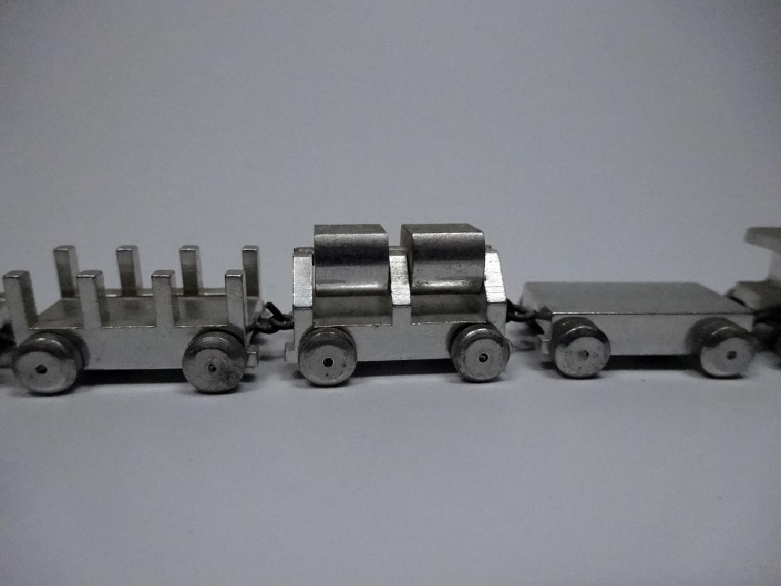 7 PC GEBR HILDNER MINIATURE TRAIN, ALUMINUM, MADE IN - 3